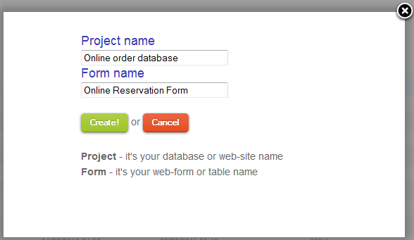 How to create new project in MTH
