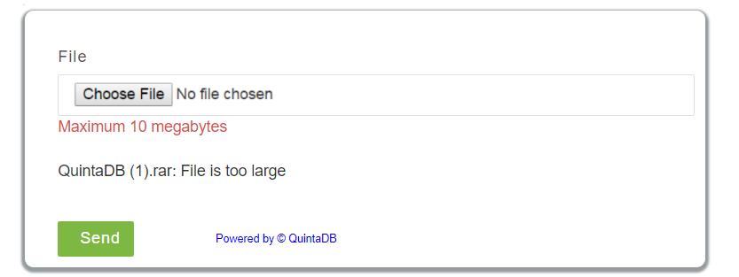 file size error