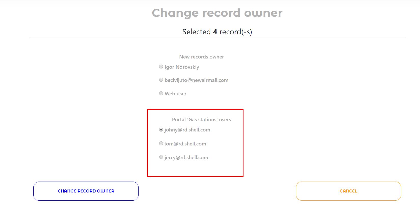 变更纪录拥有者