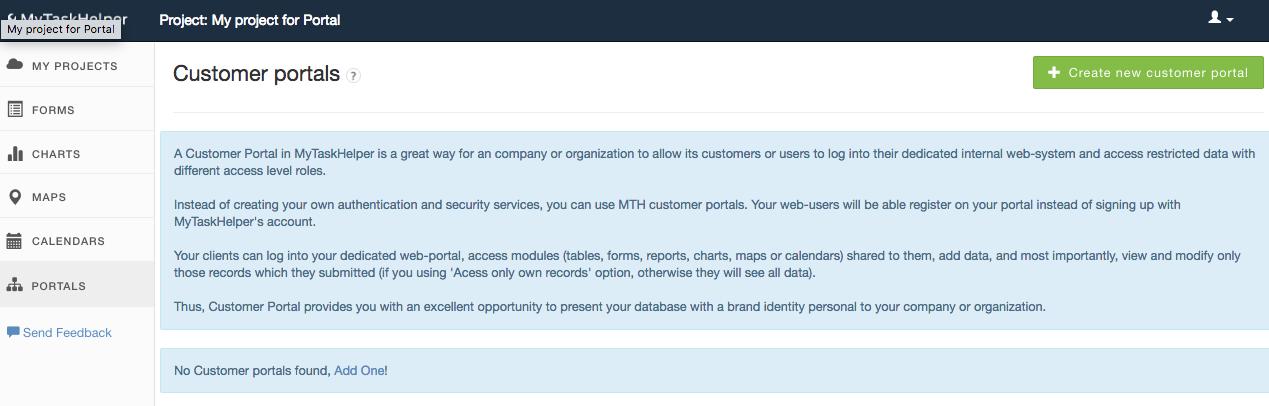 Create customer portal